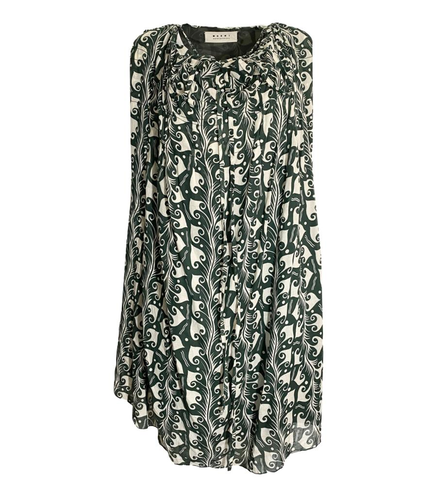 Marni Printed Dress. Size 38 IT
