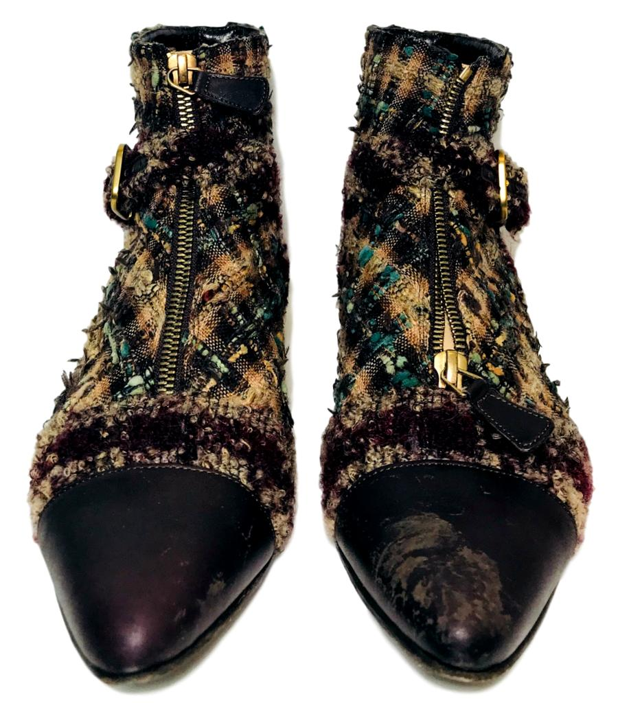 169e27184e1 Chanel Tweed Ankle Boots. Size 39 – Shush At The Wellington