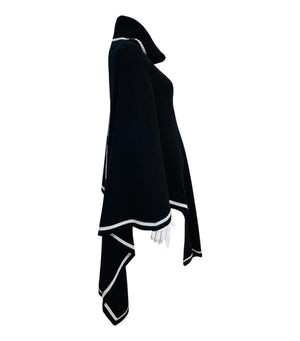 Max & Moi Wool/Cashmere Logo Poncho. Size S