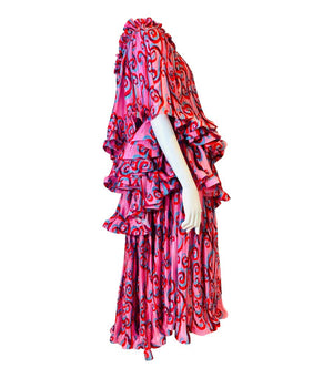Romance Was Born Psychedelic Vine Tiered Dress. Size 8 UK
