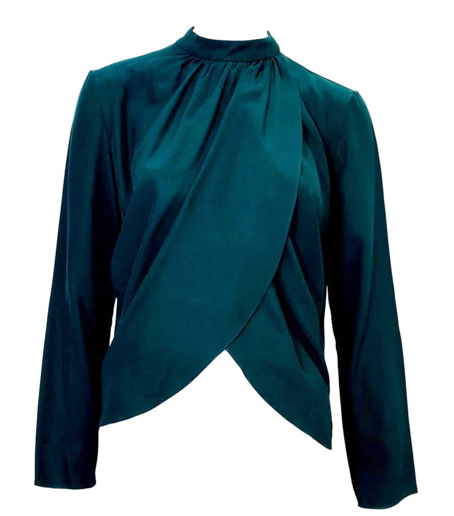 Matthew Williamson Wrap-effect Silk Blouse. Size 14UK