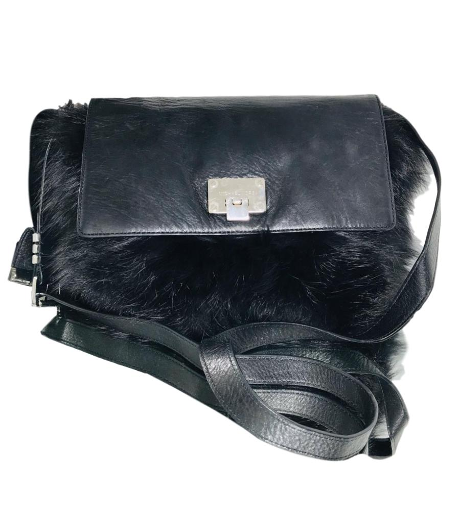 Michael Kors Fox Fur Cross Body Satchel