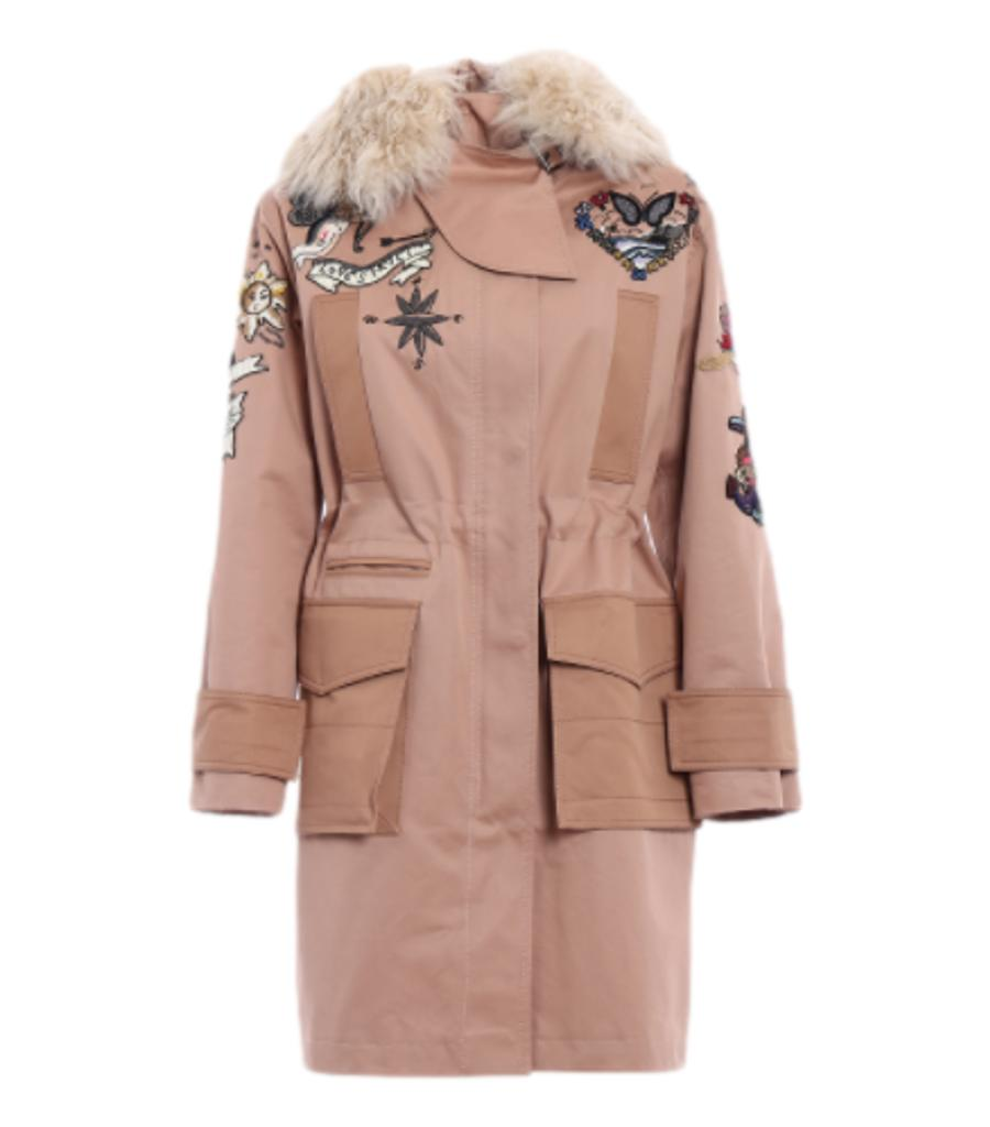 Valentino Beaded Park Coat. Size 38IT