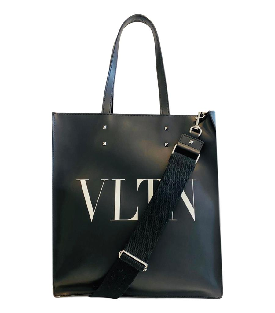 Valentino Garavani VLTN Leather Unisex Tote Bag