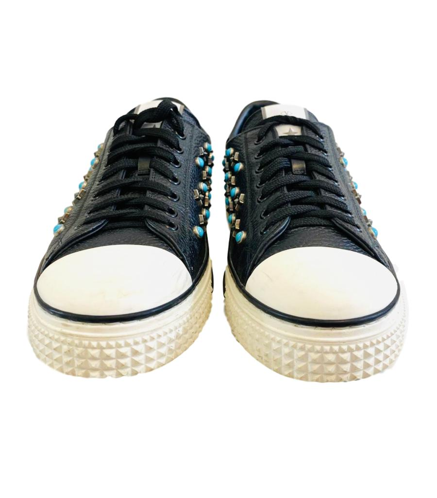 Valentino Star & Stone Studded Sneakers. Size 41