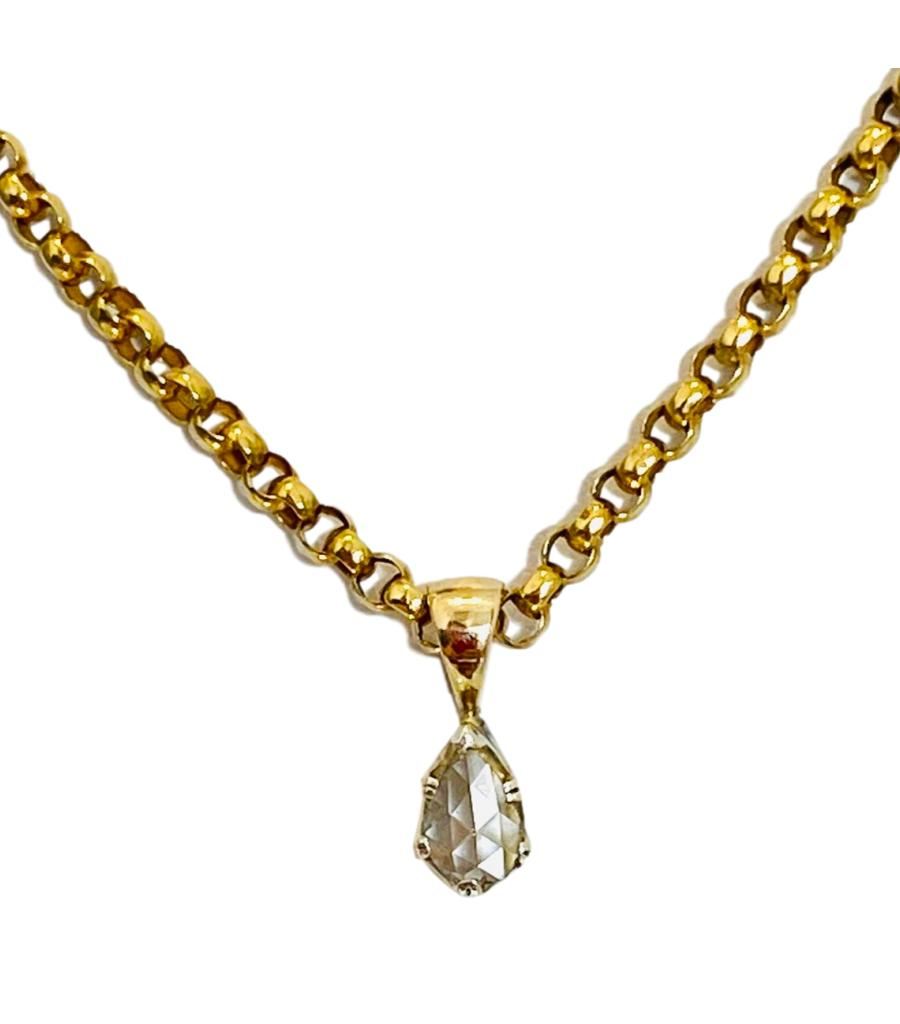 0.65ct Victorian Solitaire Diamond Necklace