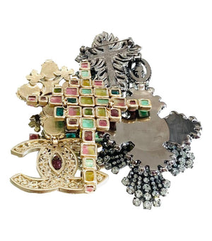 Chanel Extra Large Rare Multi Gripoix Brooch