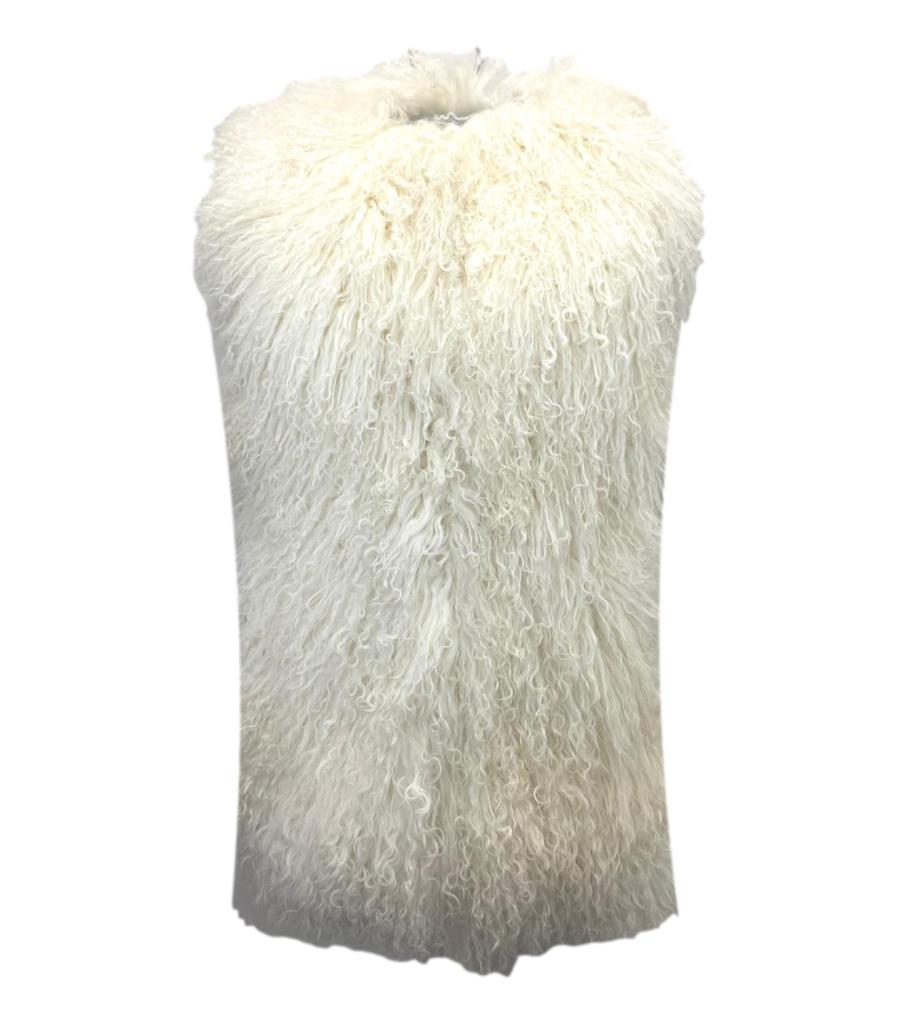Burberry Prorsum Curly Sheepskin Gilet. Size S