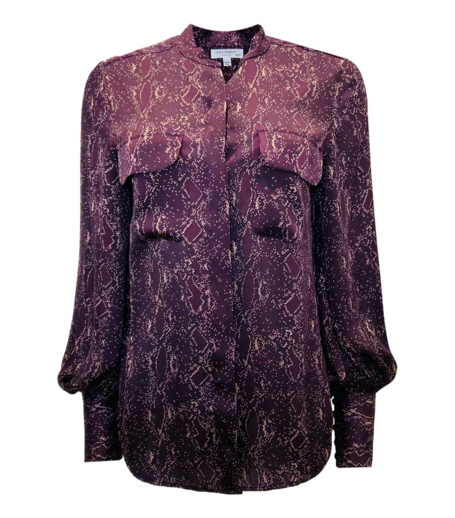 Equipment Python Print Shirt. Size XS