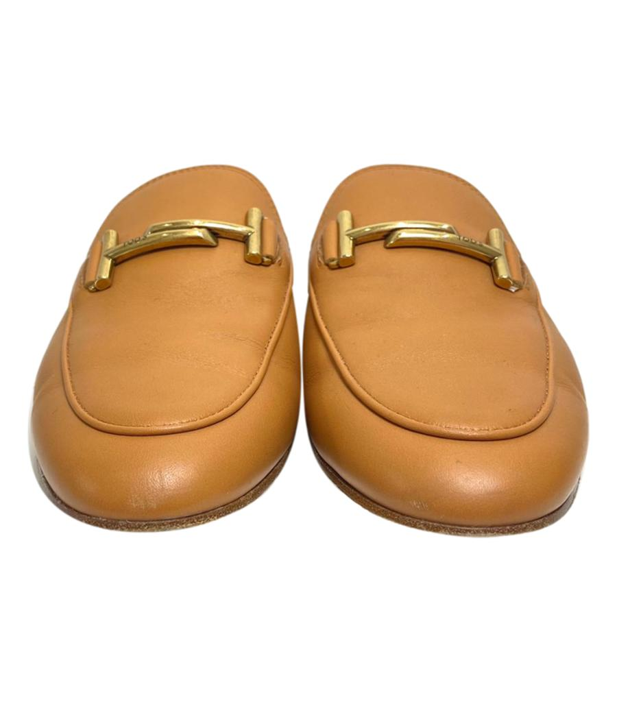 Tod's Leather Double 'T' Mules. Size 38