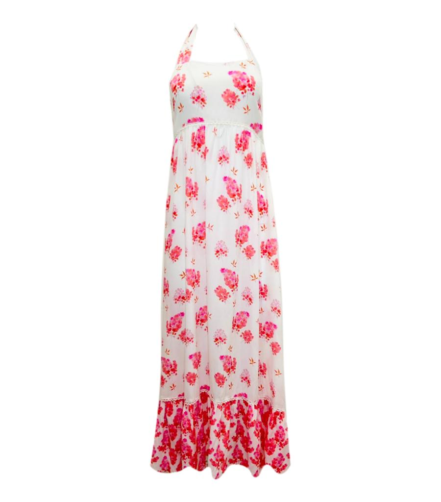 Athena Procopiou Silk Maxi Dress. Size S