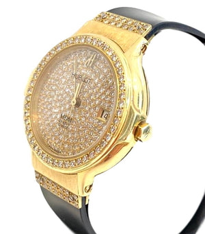 Hublot MDM Diamond Watch In 18k Gold