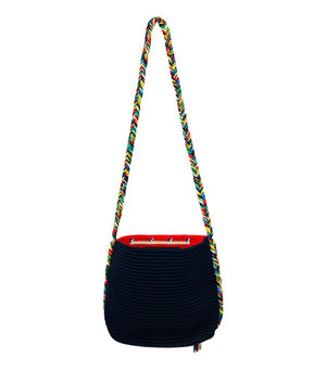 Sensi Studio Straw Cross Body Bag