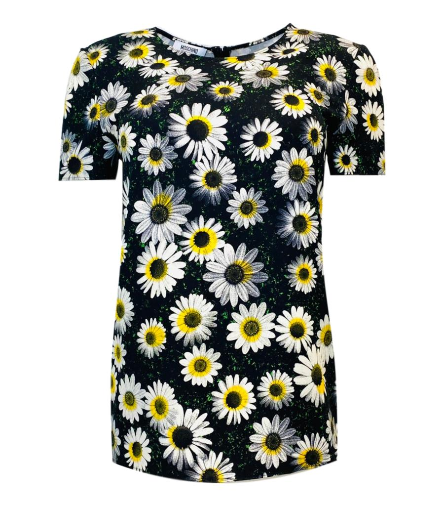 Moschino Cheap And Chic Daisy Print Top. Size 10UK