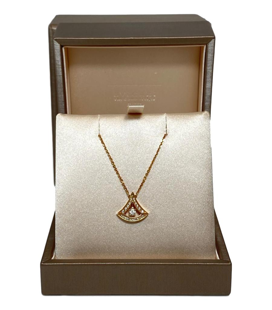 Bulgari Diamond & 18k Rose Gold Diva Dream Necklace