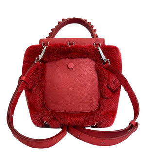 Tod's Red Wave Mink Fur Backpack