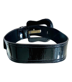 Fendi Patent Leather Logo Belt