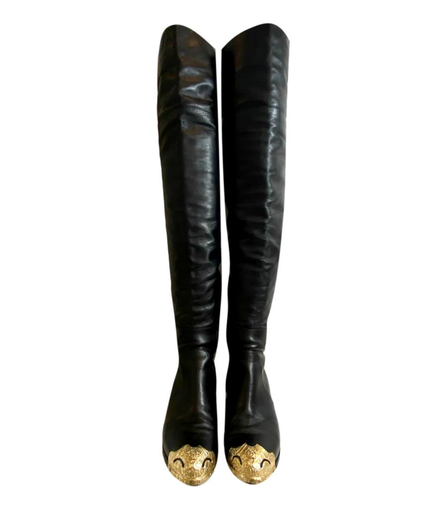 Chanel Paris Dallas Over Knee Boots. Size 36.5