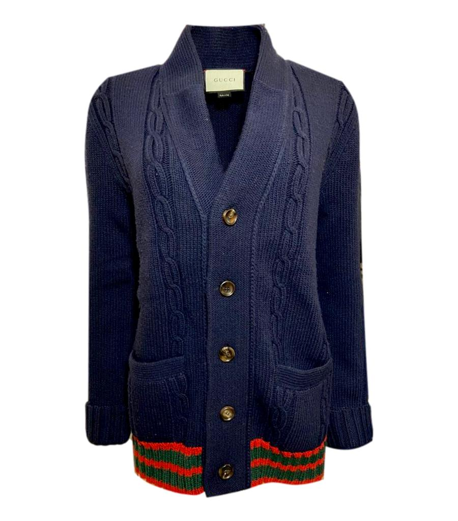 Gucci Wool Cable Knit Cardigan. Size S