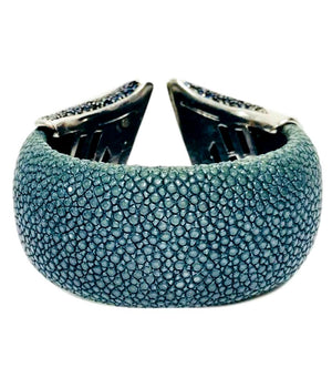 Exotic Skin Cuff WIth Gemstones
