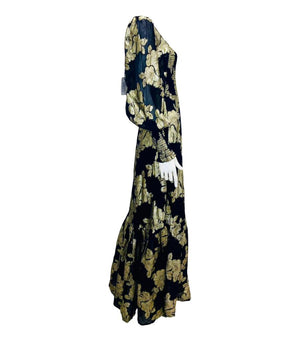 Queens Of Archive Jacquard Maxi Dress. Size XS