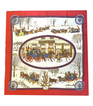 Hermes Bull And Mouth Regents, Piccadilly Circus Silk Scarf