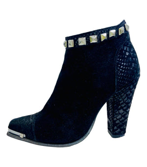 SuperTrash Suede Studded Ankle Boots. Size 38