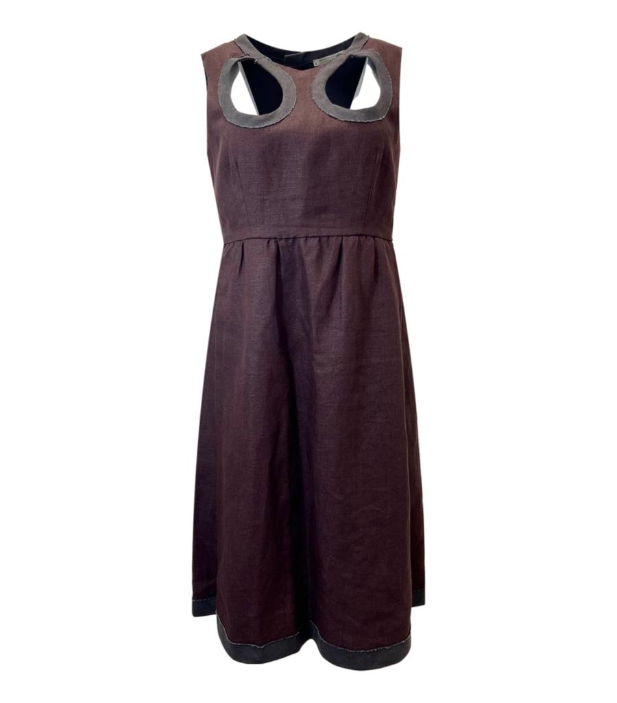 Bottega Veneta Linen Dress. Size 42IT