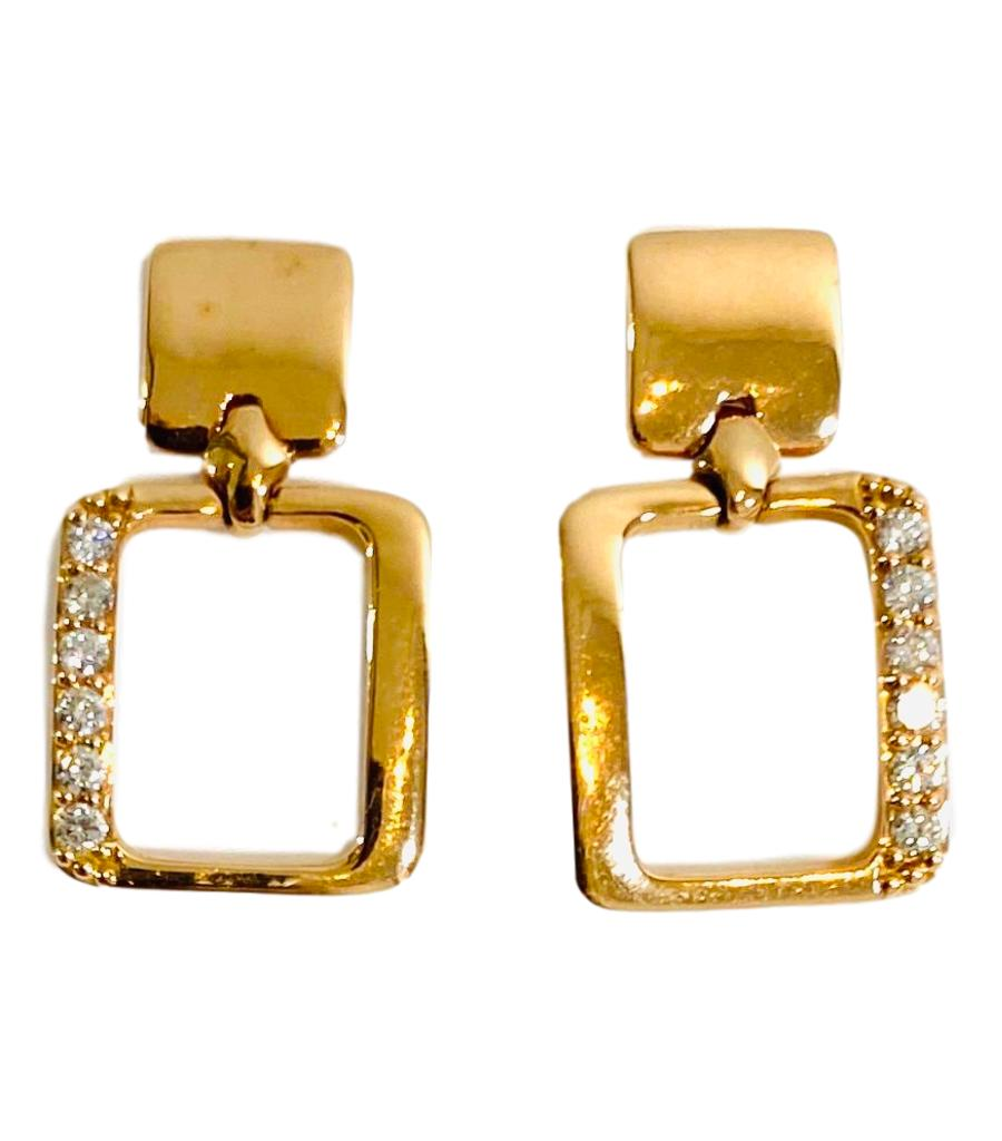 18k Rose Gold & Diamond Earrings