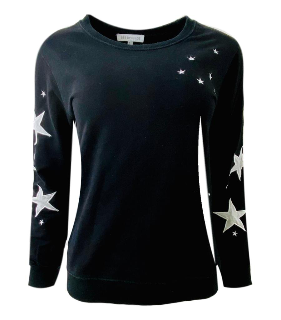 See By Chloe Cotton Star Sweater. Size 38IT