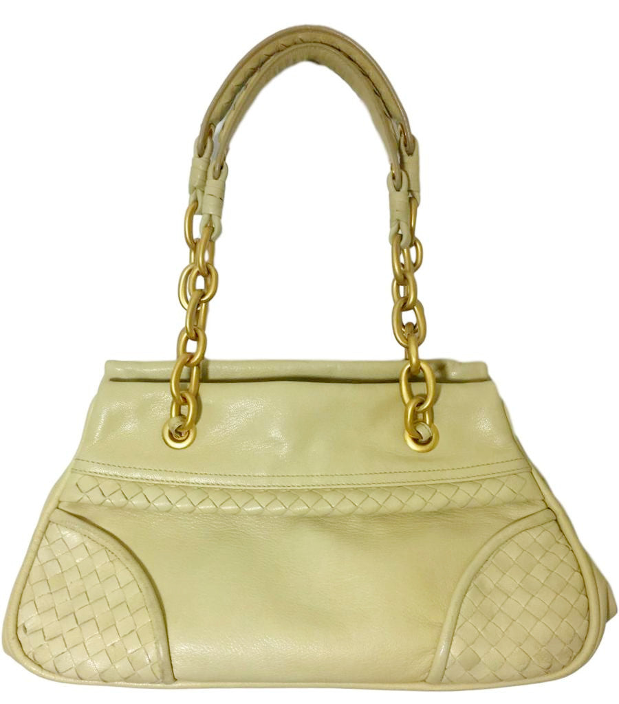 Bottega Veneta Cream Handbag