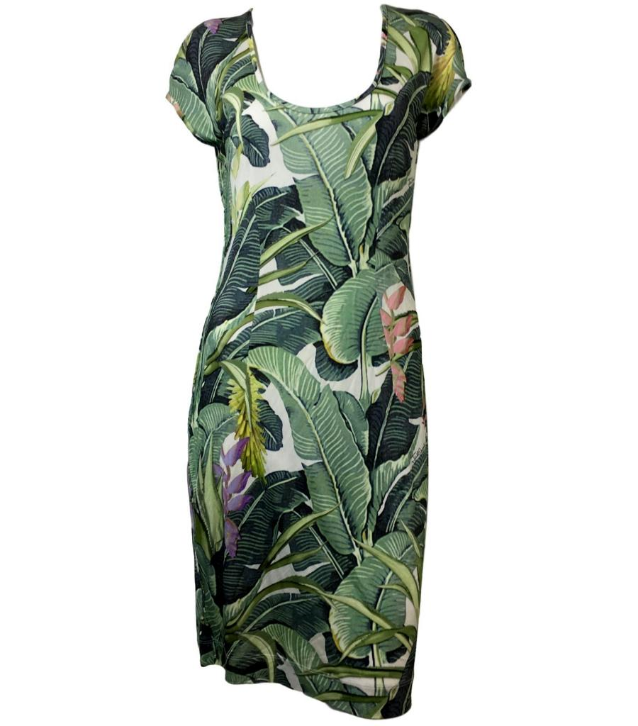 Just Cavalli Botanical Print Dress. Size L