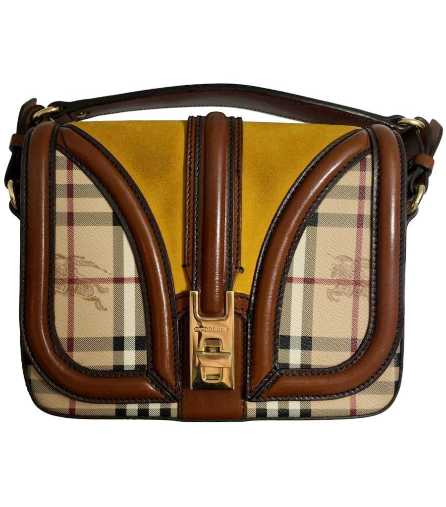 Burberry Leather and Suede Shoulder Bag