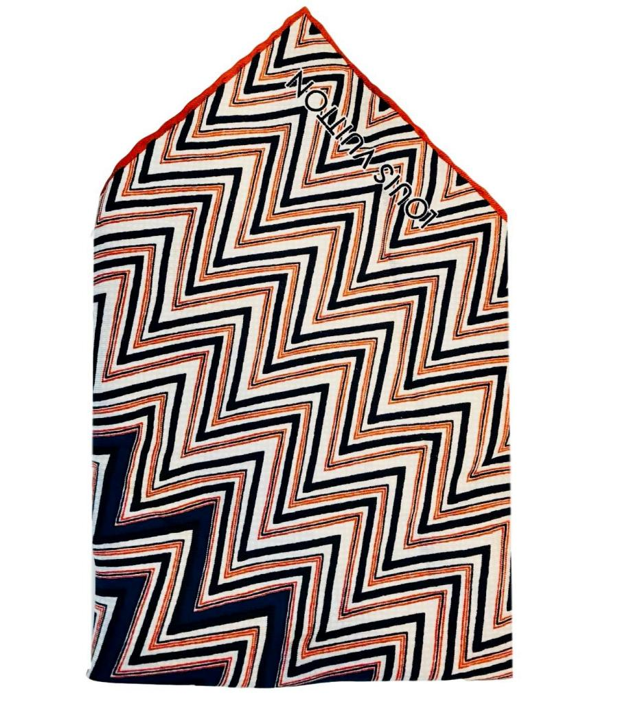 Mens Louis Vuitton Silk Pocket Square