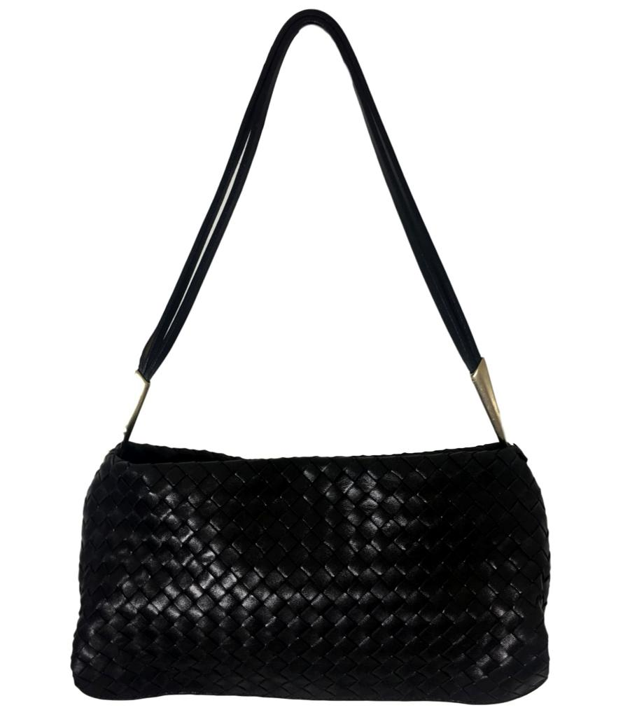 Bottega Veneta Black Woven Shoulder Bag