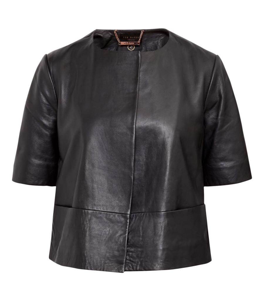 Ted Baker Leather Jacket. Size 3
