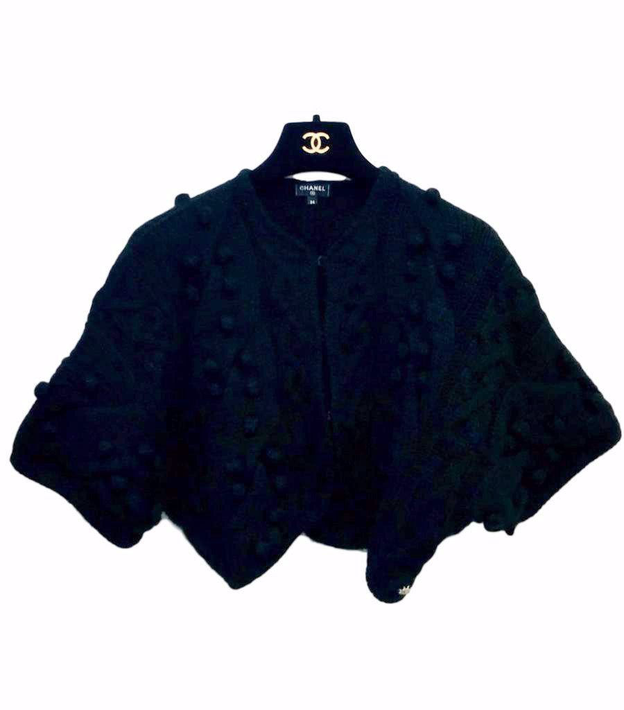 Chanel Chunky Knit Cashmere Cardigan. Size 34FR