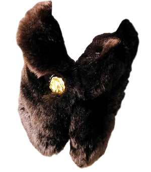 Chanel Rabbit Fur Cuffs