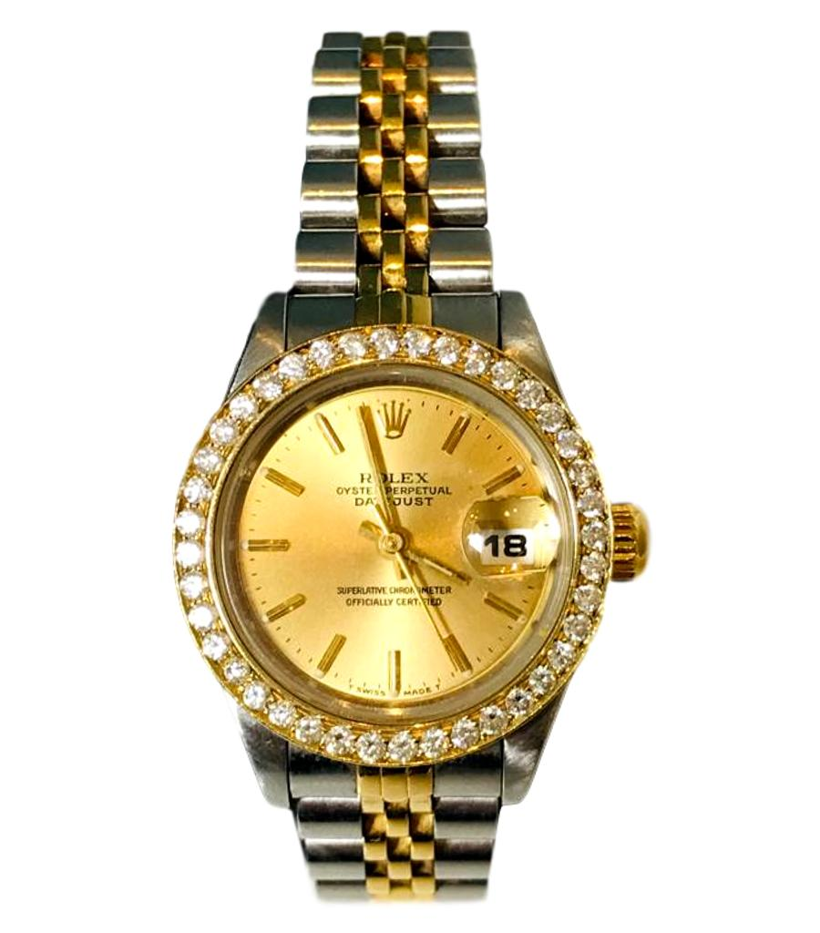 Rolex Ladies Day Watch with Diamonds