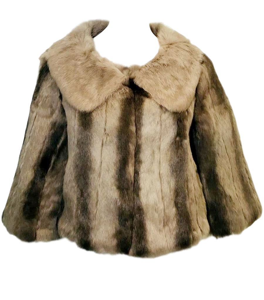 K-Yen Cropped Rabbit Fur Jacket. Size L