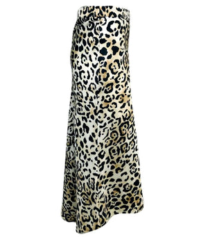 Raey Leopard Print Skirt. Size 8UK