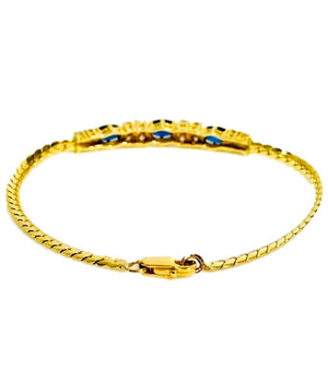 Sapphire & Diamond Bracelet Set In 18K Gold