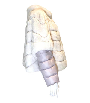 Diego M Rabbit Fur & Goose Down Jacket. Size M