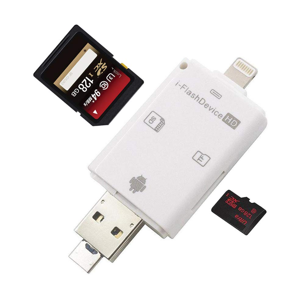 Portable 3 in 1 OTG Card Reader Expansion Card for iOS for Android Computer