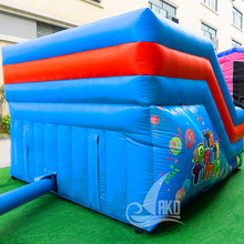 Laden Sie das Bild in den Galerie-Viewer, It's Party Time Rutsche mit Kletterntreppen 3,6 x 3,6 x 2,6m