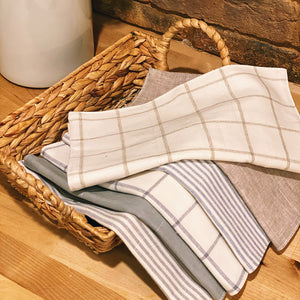 Reusable 3ply Cotton Paperless Towels + Optional Snaps | Eco-friendly Zero Waste Gift| Farmhouse Set