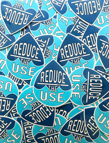 Reduce the Use Glossy Sticker | Great for Water Bottles, Laptop Decal | Refuse The Straw Eco Gift