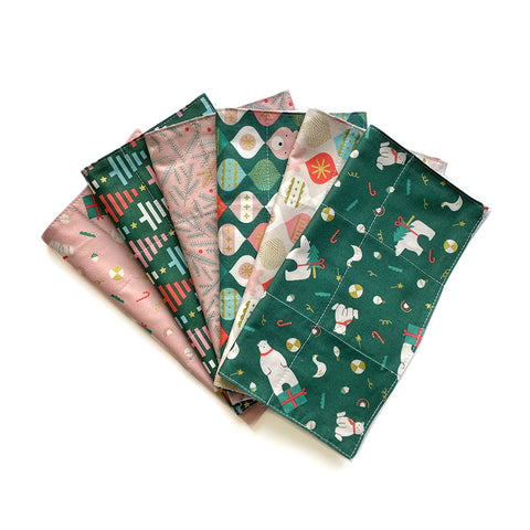 Reusable 3ply Cotton Paper Paperless Towels | Eco-friendly Zero Waste Gift | Modern Christmas Set