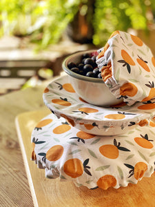 Reusable Washable Cotton Fabric Food Baking Bread Fruit Mixer Bowl Covers | Zero Waste Eco-friendly Sustainable Gift Kitchen Tool Accessory