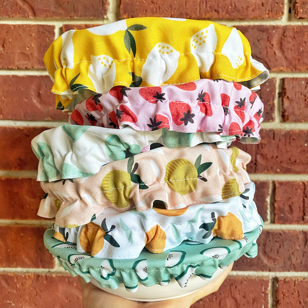 Fruits Reusable Washable Cotton Fabric Food Baking Bread Fruit Mixer Bowl Covers | Zero Waste Eco-friendly Sustainable Gift Kitchen Tool Accessory
